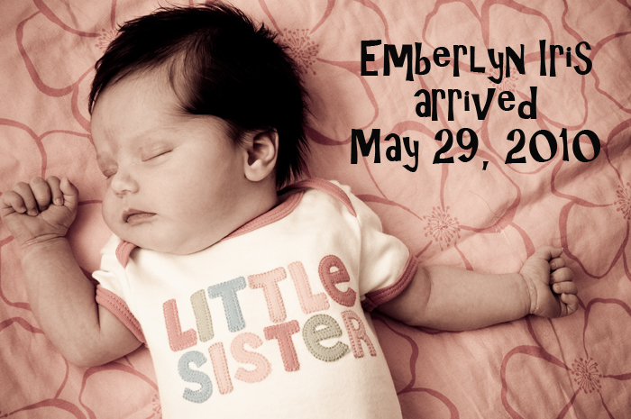 newborn announcement eugene oregon