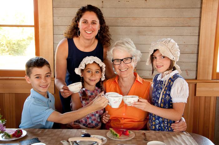 grandparents tea event photographer eugene oregon