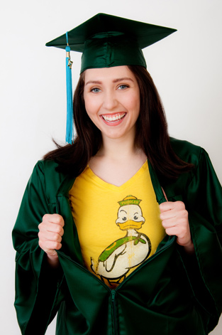 U of O grad Caitlyn Kealey photos eugene oregon