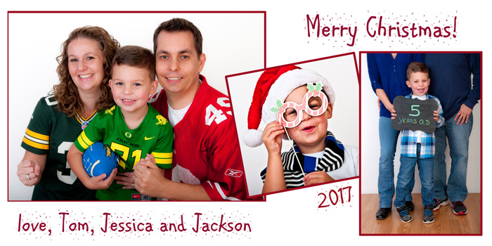 Wry Family portraits for Christmas in Eugene, Oregon